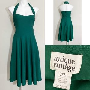Unique Vintage Womens plu size 3x halter Dress